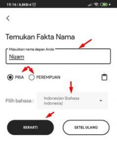 cara menggunakan my name facts bahasa indonesia
