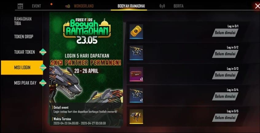 Event Booyah Ramadhan Free Fire